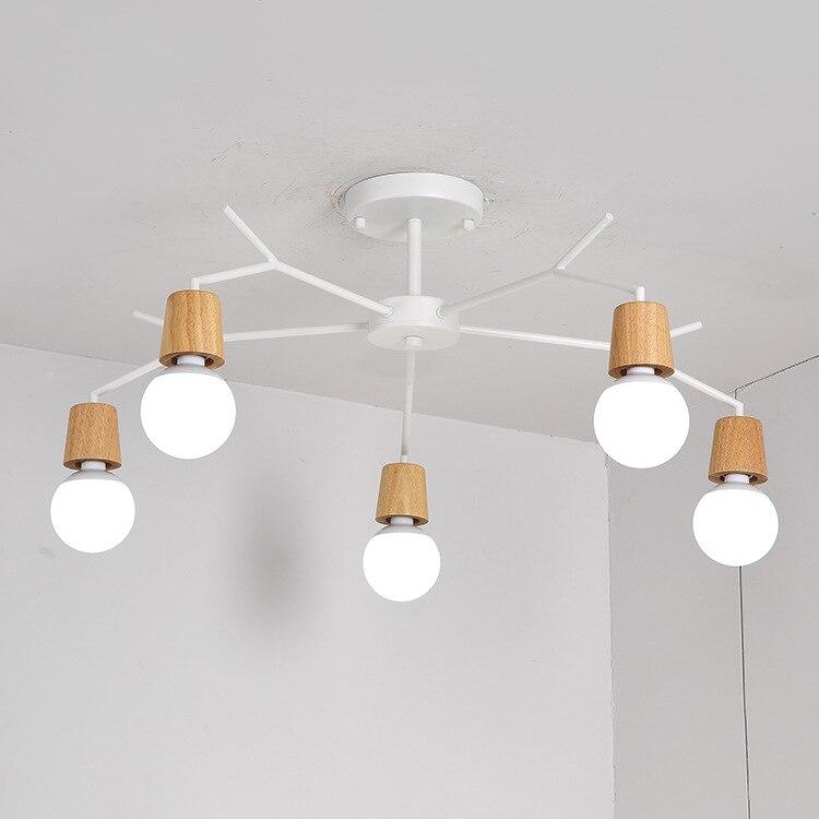 E27 Holz Led-deckenleuchten Wohnzimmer Schlafzimmer Moderne ...