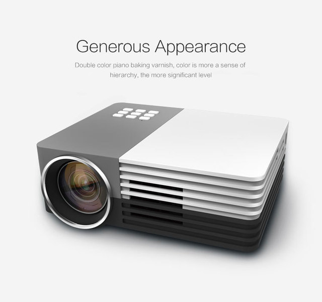 New Mini Portable HD 1080P 3D LED Projector Perfect Home Theater Projectors For Projector Movie Support HDMI VGA Portable beamer