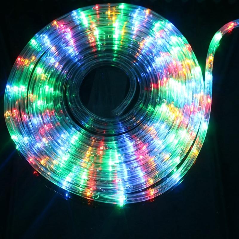 8 modes rainbow tube fairy string light garland outdoor