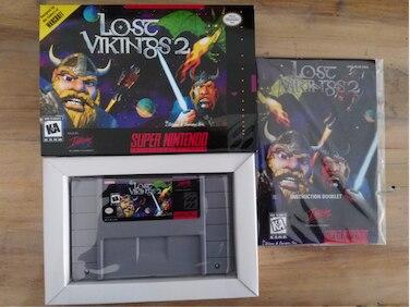 16Bit Giochi ** Lost Vikings 2 (Versione USA!! Box + Manuale + Cartuccia!!)