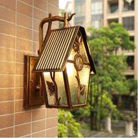 Американский настенная лампа для балкона вилла терраса садовый водонепроницаемый светодиодный настенный светильник Европейский ретро пр