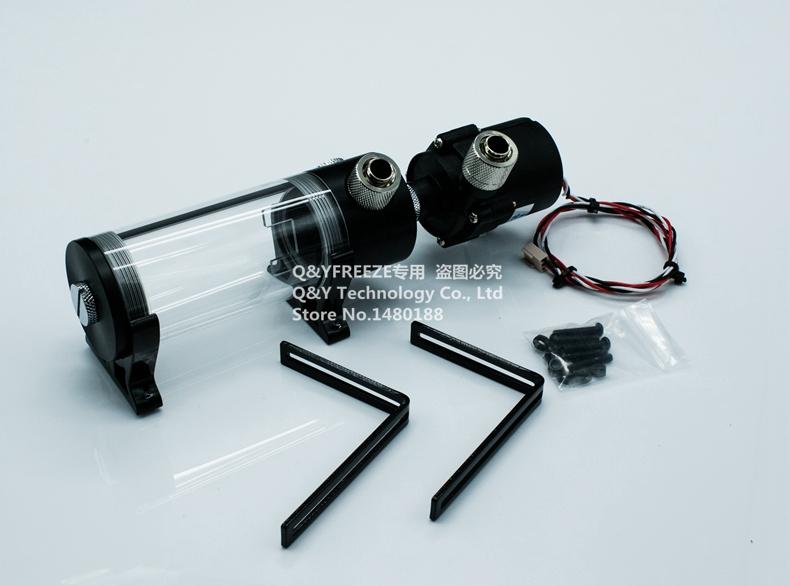 Prix pour 190mm cylindre réservoir d'eau + SC600 pompe tout-en-un ensemble Maximum débit 600L/H ordinateur l'eau de refroidissement radiateur. PUA-SC60019