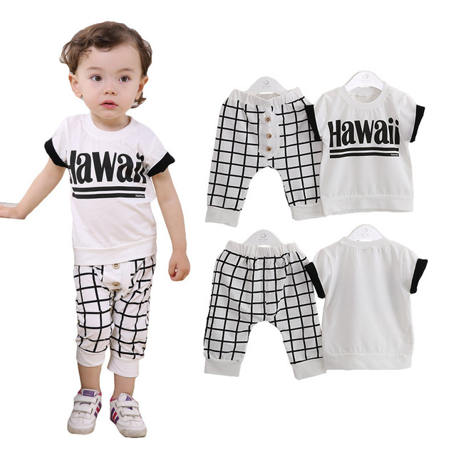 945ad17d7c7 Anlencool 2017 Kids Boys short-sleeved suit suit grid English free shipping baby  clothing baby