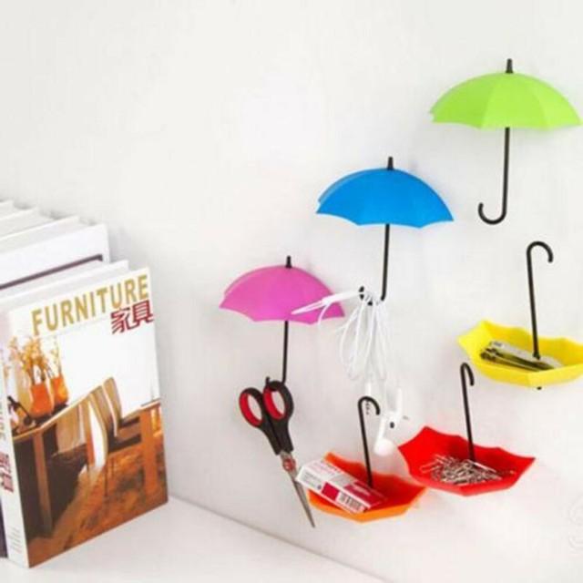Aliexpress.com : Buy 6PCS Umbrella Shape Stick Hook Key Hanger ...