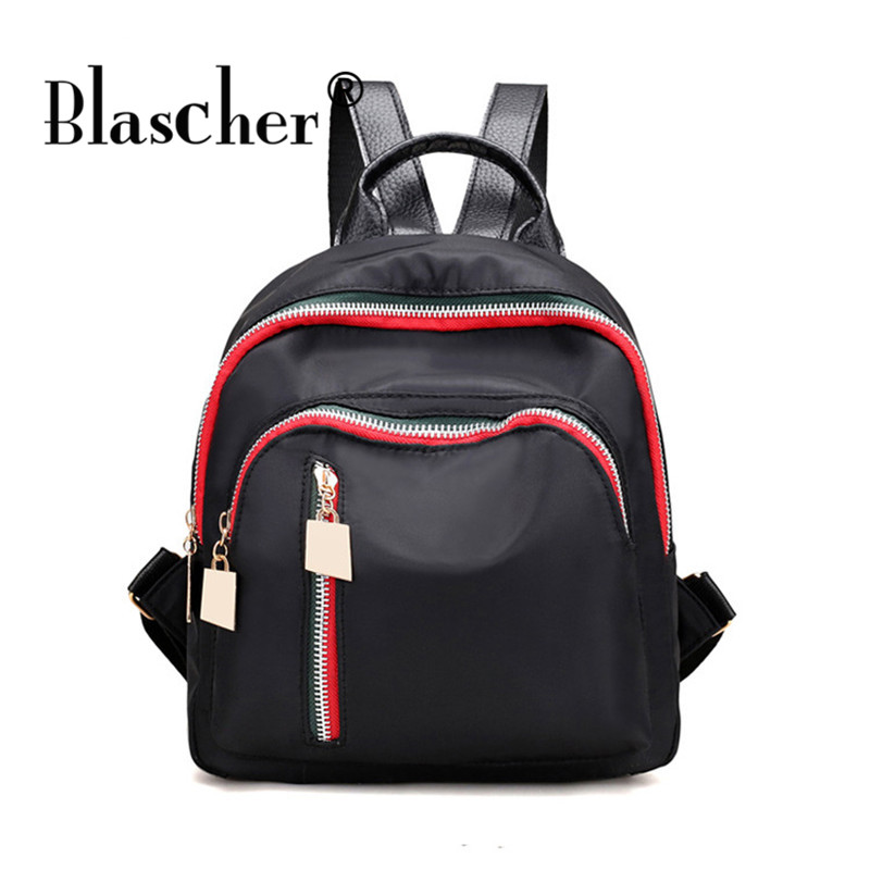 Blascher New Fashion Waterproof Oxford Mini Small Backpack Solid Travel Shoulder Bag Casual Simple Fashion School
