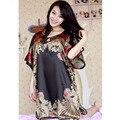 Verão Vintage Imitação Camisola De Seda Robe Chemise Mulheres Roupa Interior Vestido de Noite Das Mulheres Roupa Em Casa SY008 #20