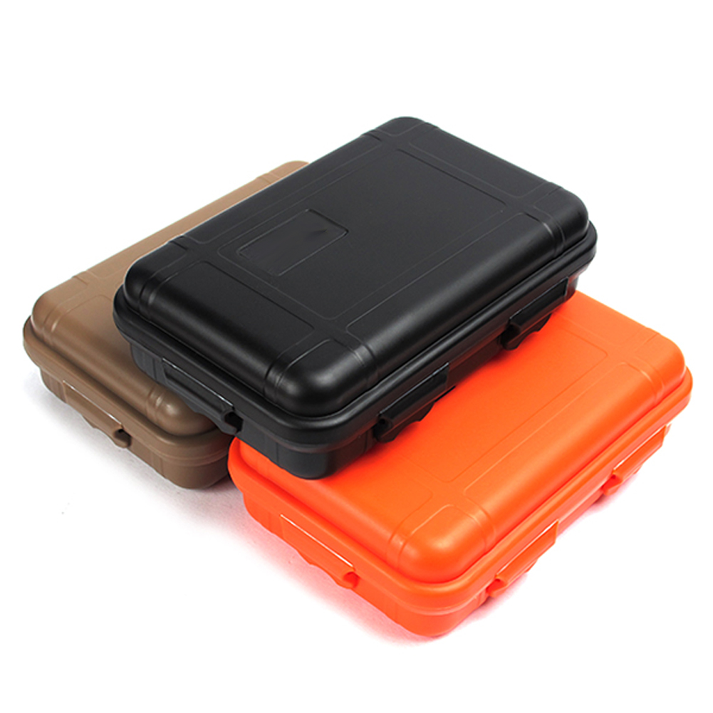 Outdoor Waterproof shockproof box Airtight sealed case outdoor equipment EDC tools storage portable box field survival