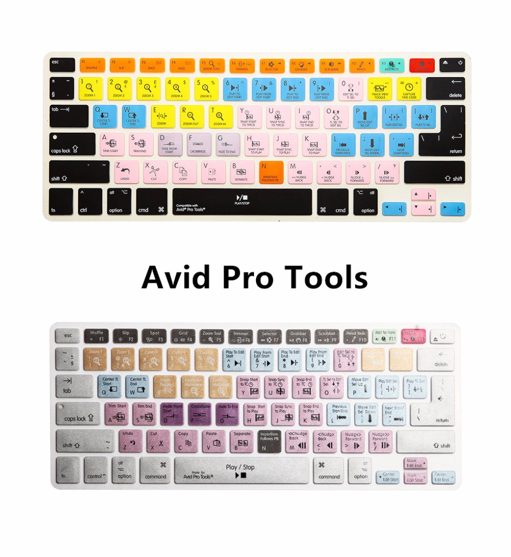 US $7 99 |For iMac Macbook Pro Air 13 15 Avid Pro Tools Shortcut keys  Keyboard Protector Skin Cover KC_A1278_TY_AvidProTools -in Keyboard Covers  from