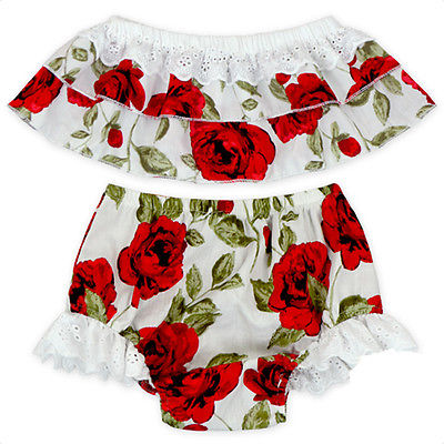 2017 Kids Infant Baby Girls Clothes Floral Ruffle Width Neck Tops+Lace Shorts Bottoms Briefs 2pcs Outfits Toddler Girl Clothing girls tshirt brand hollow sleeveless o neck baby girl shorts solid elastic waist 2 pieces kids clothes girls 2792w