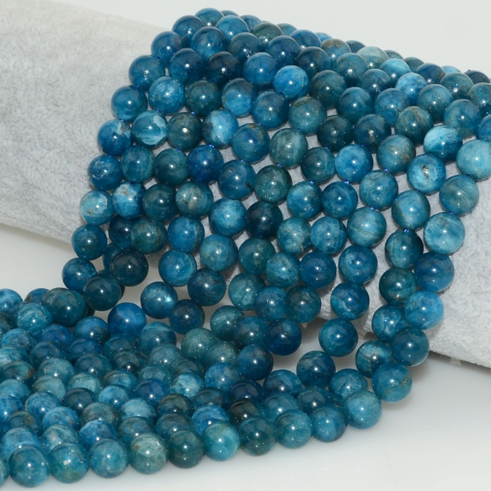 Natural Blue Apatite Loose Round Beads 6mm,8mm