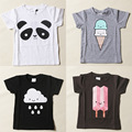 2016 Summer Brand New bobo choses Baby T-shirts Short Sleeve Boy Girls Printed T shirt Cotton Children's Clothes Cloud Panda