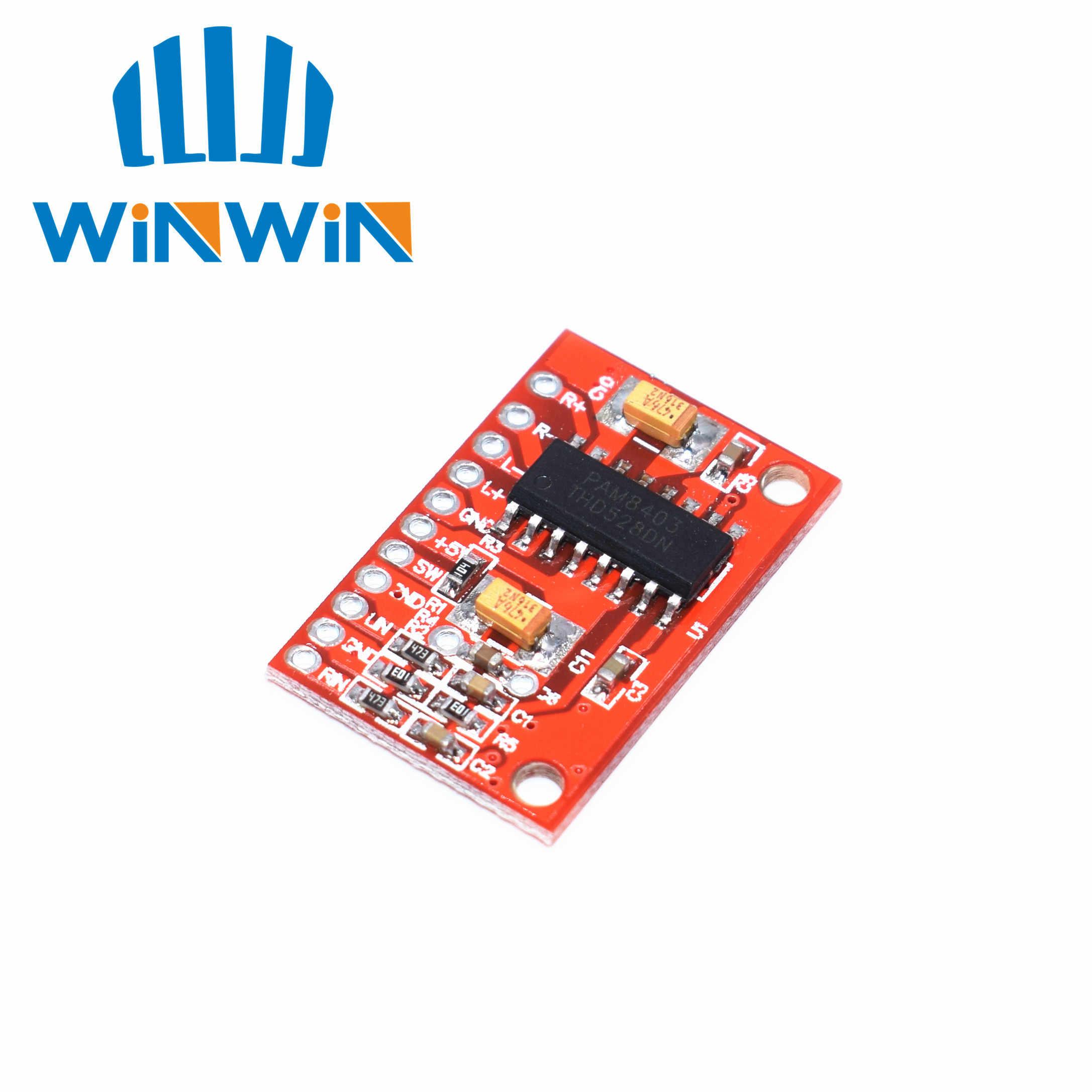 H33 3W * 2 Mini carte amplificateur Audio de puissance numérique USB DC 5V alimentation PAM8403
