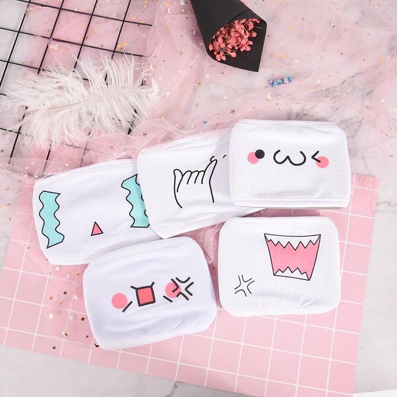 1pcs Women Men White Anti Dust Cotton Mouth Mask Emotiction Masks Cute font b Anime b