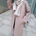 Winter 2017 New European Women Single Button Wool Blends Coat Ladies Long Sleeve Turn Down Collar Pockets Slim Fit OutWear