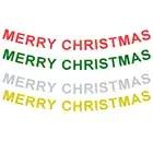 100 set 4 di Colore Lunghezza = 3.2 metro Hollow Lettera Buon Natale Banner Per Il 2018 Festa Di Natale Della Decorazione Lettera del Hight = 13.5 cm - 1