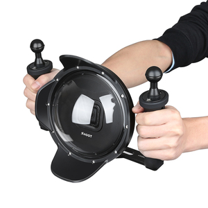 """Image 5 - Shoot 6"""" Diving Underwater Camera Lens Dome Cover w/ Fisheye Wide Angle Lens Shell for GoPro"""