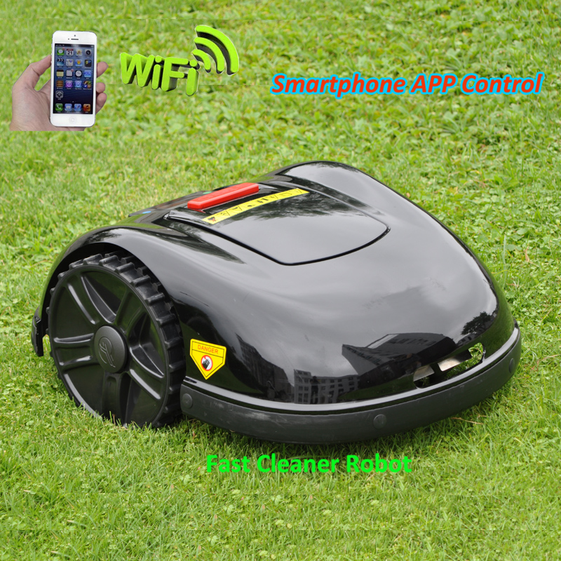 Two Year Warranty Smartphone APP Contorl Auto Lawn Mower Robot With 13.2AH Li-ion Battery+200m wire+200pcs pegs+16pcs Blade