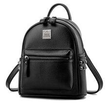 2017 женские брендовые дизайнерские мини заклепки рюкзак Искусственная кожа рюкзак небольшой сумки женские студенческие школьный SAC de MARQUE 8 цветов