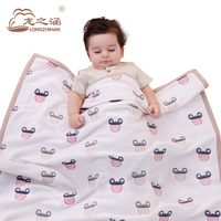 100 Cotton Baby Blankets Newborn 4 Layer Gauze Swaddle Receiving Blankets Muslin Animal Wool Summer Quilt