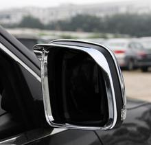 цена на For Jeep Grand Cherokee 2014 2015 ABS Chrome Car rearview mirror block rain eyebrow Cover Trim Accessories Car Styling 2pcs
