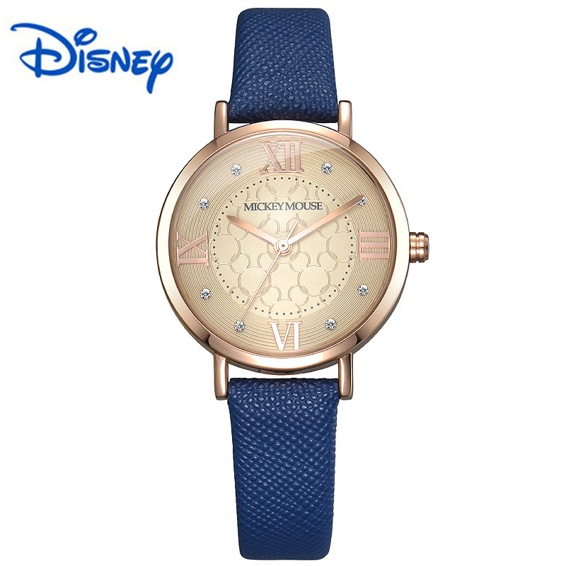 100% Original Disney Mickey Mouse Women Quartz Wrist Watch With   Brand Box Packaging for 2016 Birthday Gift Feminino promotion 6pcs mickey mouse 100