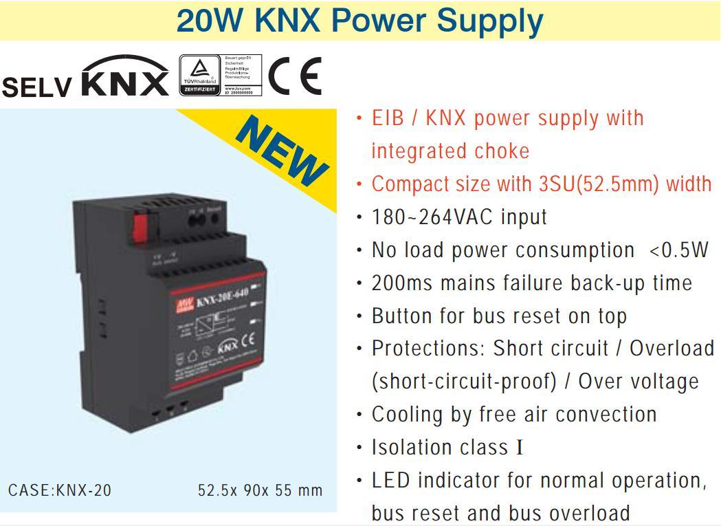[V4] 100% MEAN WELL original  KNX-20E-640 Switching Power Supplies 19.2W 30V 640mA 180-264VAC