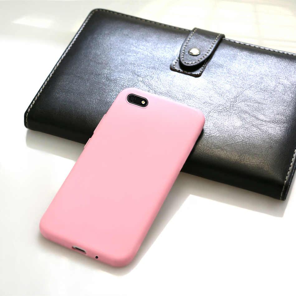 Silikon Fall Für Huawei Y5 2018 Fall Huawei Y5 Lite 2018 DRA-LX5 Candy Farbe Weichen TPU Telefon Abdeckung Für Huawei y5 Y 5 Prime 2018