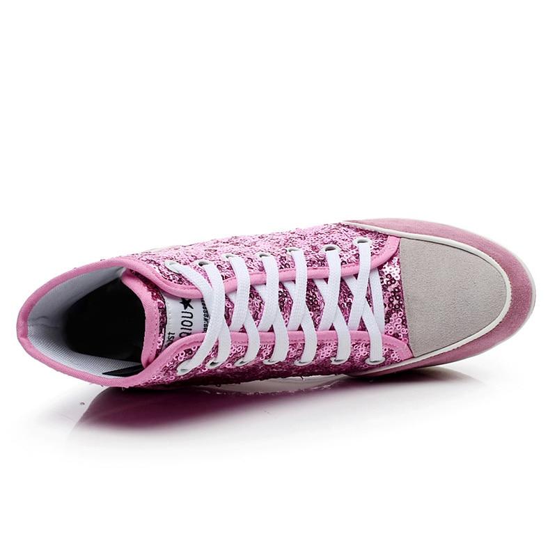 Sepatu Platform Wanita Kulit Asli 2016 Bernapas Lace up 8cm Wedges - Sepatu Wanita - Foto 4