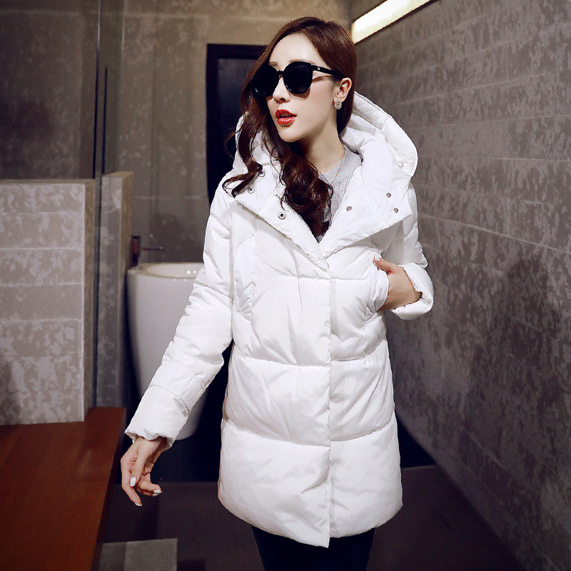 Down & Parka women's Winter Large Size Down Cotton Hooded Jacket Long Sections Warm Padded Coat Women Winter Clothing TT211 цены онлайн