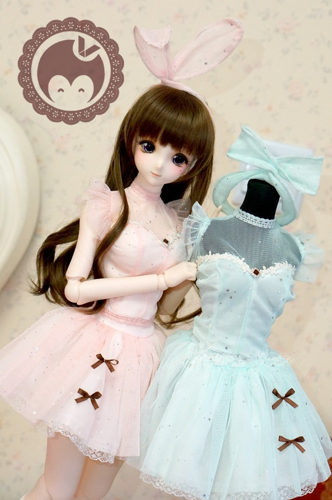 Pretty Sweetie Lace Dress 2Colors For BJD DDL DDM / S Doll Clothes CW80 sweetie chocolate mousse european retro outfit dress suit for bjd doll 1 6 yosd doll clothes lf9