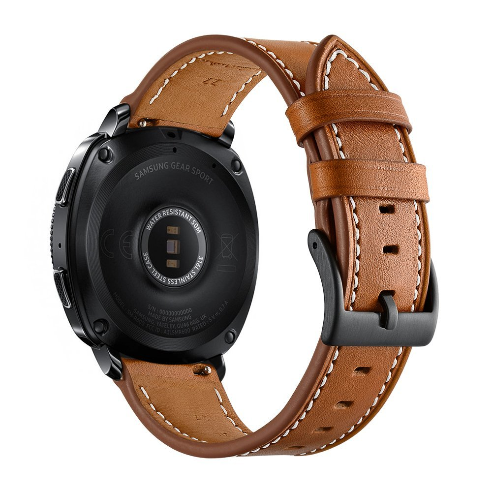 Genuine Leather Band For Samsung Gear Sport Band Metal Closure Clasp Quick Releast Strap For Gear Sports Smart Watch смарт часы samsung gear s2 black