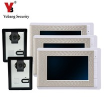 Buy online YobangSecurity 7 Inch Wire Video Door Phone Indoor Monitor Night Vision Waterproof Outdoor Camera with RainCover Intercom System