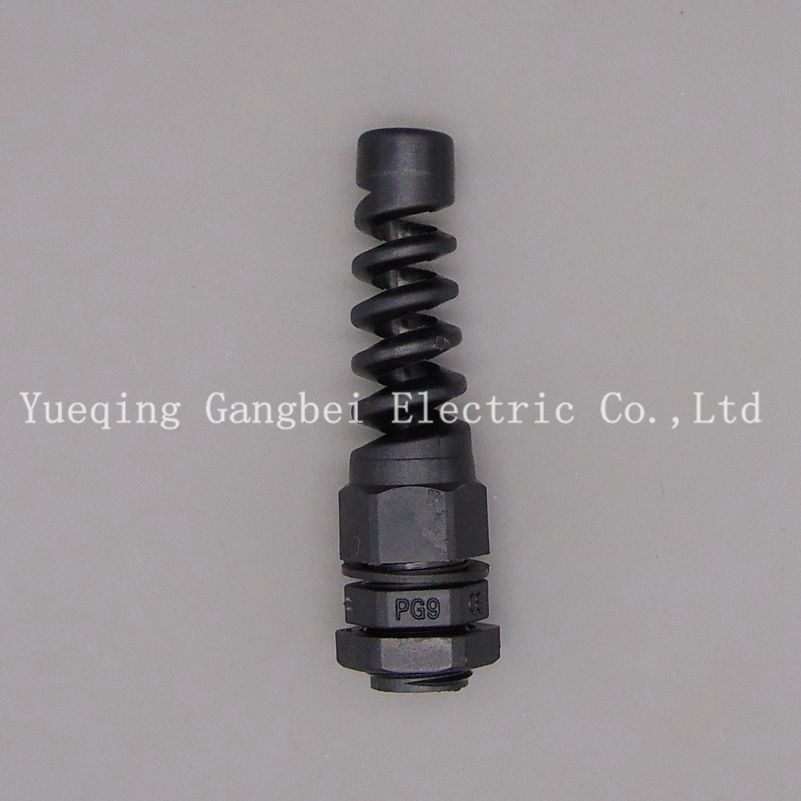 PG9 Spring loaded joint Torsion resistance type bending waterproof connectors Glen head protection cable joint