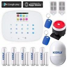 2016 GSM Accueil Système D'alarme Sans Fil Porte Fenêtre Gap Détecteur Capteur + 1 Pet Immunitaire Motion PIR KERUI G19 de sécurité alarme