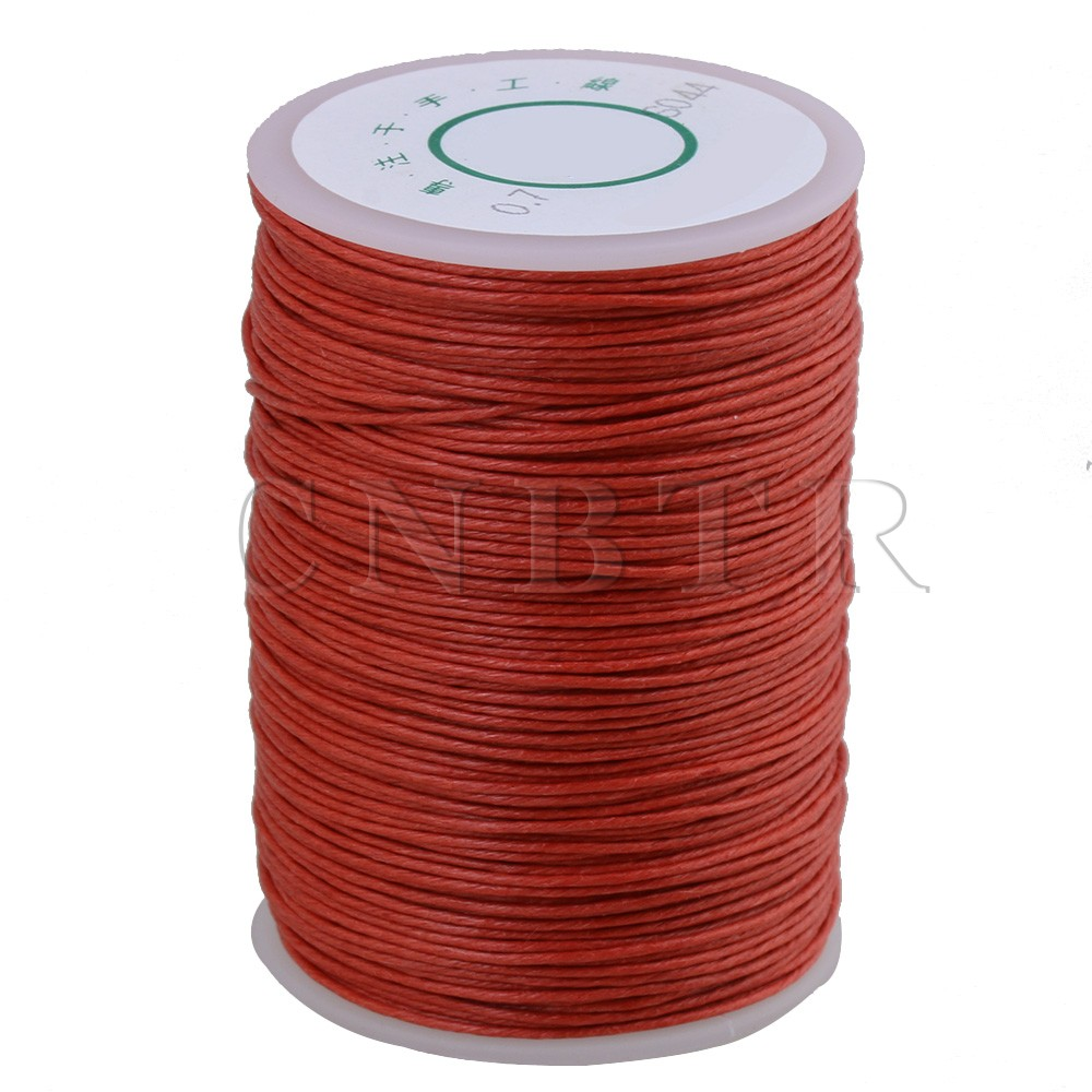CNBTR 0.7mm Dia 100m Orange Red Round Waxed Thread Leather Craft Sewing Cord игрушка ecx torment red orange ecx01001t2