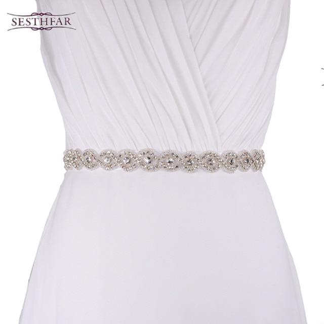 S28 High Quality Dazzling Glass Crystal Rhinestone Bridal Belt with Crystals  for Wedding Dress Luxury Wedding 4da139a2b436