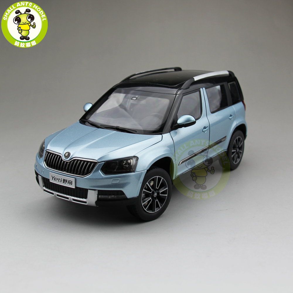 1/18 VW Volkswagen Skoda Yeti SUV Diecast Metal SUV CAR MODEL gift hobby collection Blue 1 18 scale jeep wrangler rubicon diecast metal car suv model maisto 31663 blue