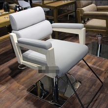 Solid wood upscale hairdressing chair. Special hair salons haircut chair barber chair. Beauty salon chair gold euramerican style design hairdressing chair barber chair