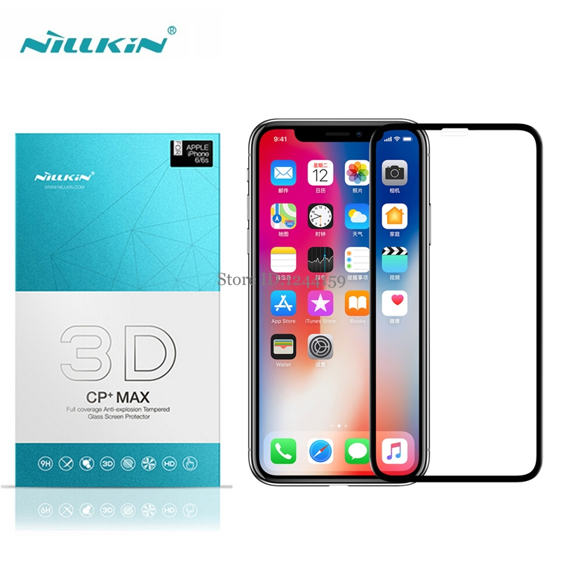 Nillkin For Apple iPhone X Glass 3D CP+ Max Screen Protector 5.8 inch sFor iphone x Tempered Glass