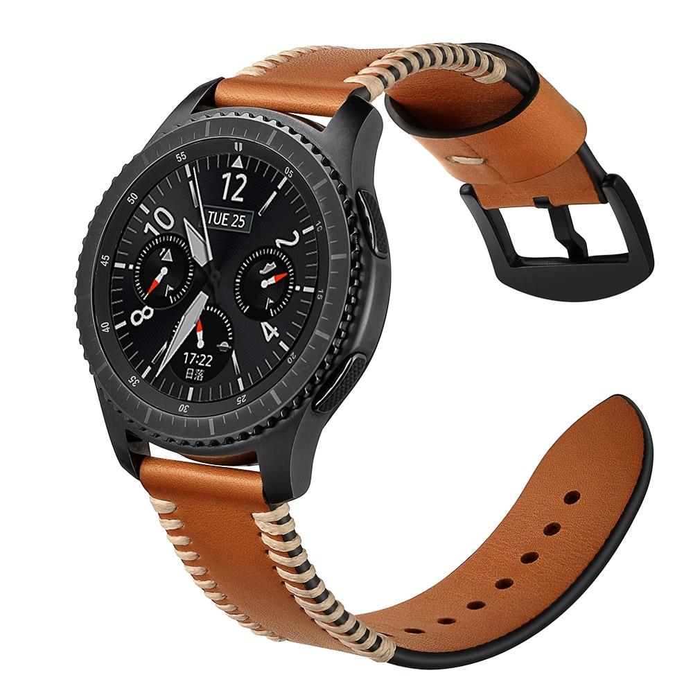 BEAFIRY Handmade Stitching 20mm 22mm Watch Band Genuine Leather watchbands for Men Women belt Watch Strap for Huawei Samsung