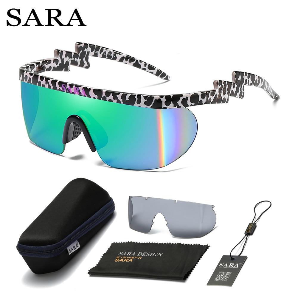 0b42ba407c2ce SARA Marca Projeto Óculos de duas lentes dos Óculos de Sol das mulheres dos  homens Retro Masculino esporte Sol De Vidro Para Homens UV400 Tons óculos  de sol