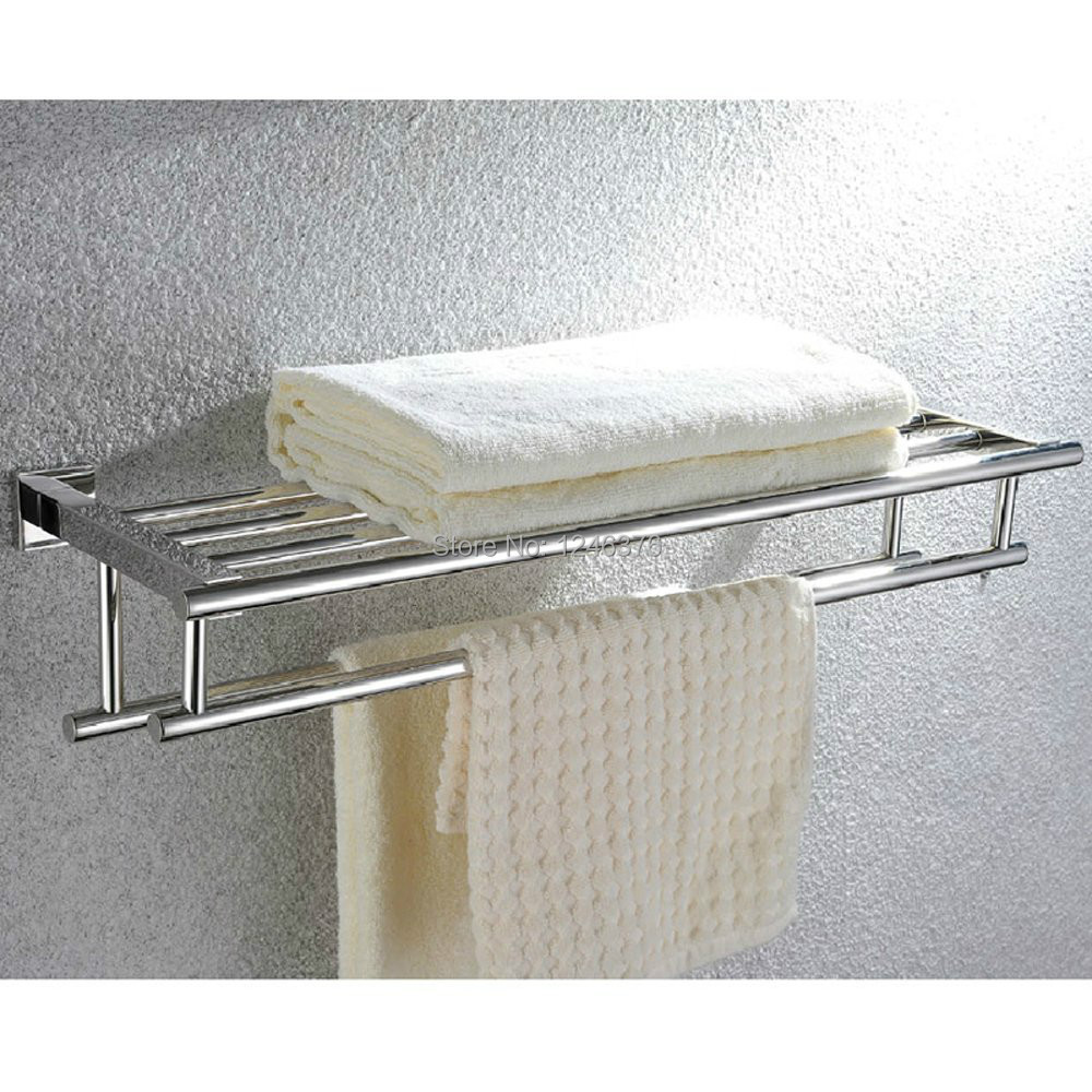 Bathroom Shelf with Towel Rack Minimalist Stainless Steel Towel Rack ...