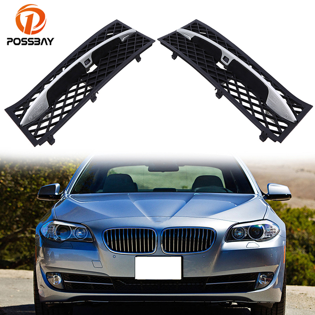 Possbay Car Front Lower Bumper Racing Grill Grilles For Bmw 5 Series