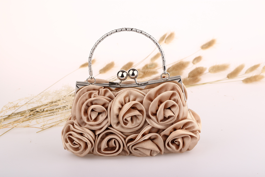 2015 새로운 솔리드 가방 미니 (<20cm) 단일 Hasp Wristlets 여성 가죽 핸드백 가방 다이아몬드 새틴 꽃 저녁 토트 백