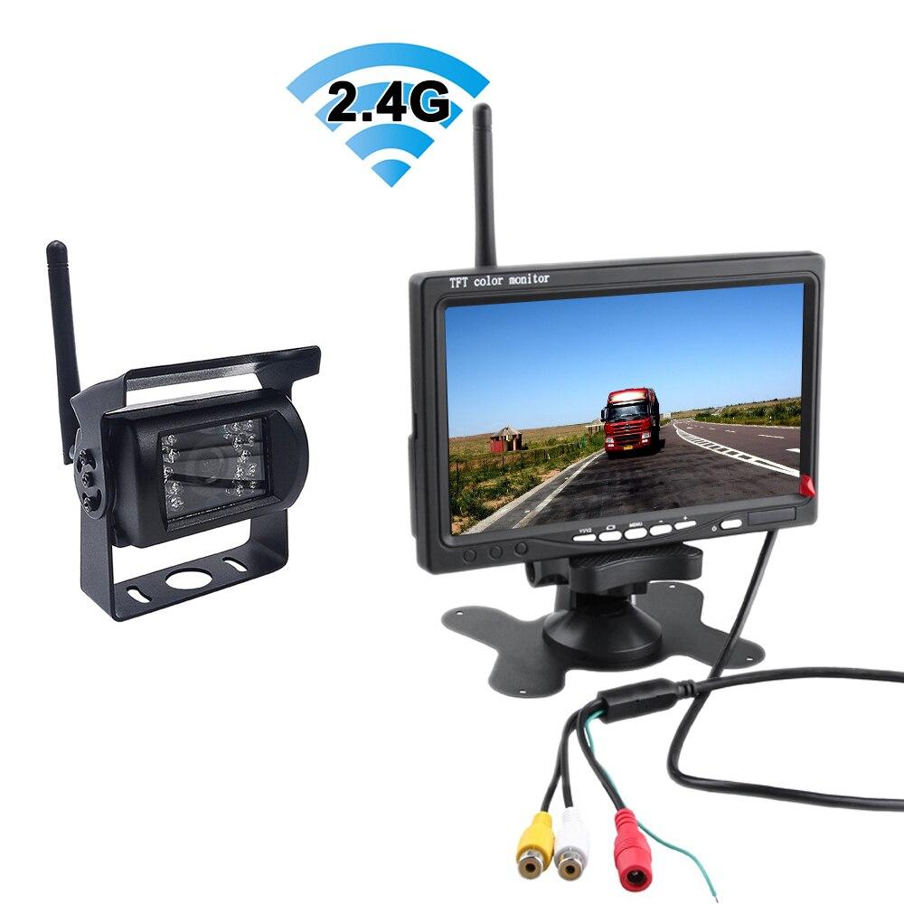 Wireless WIFI Rear View Reversing Camera Truck Bus RV Van Trailer 12V-24V Parking Reversing Image System