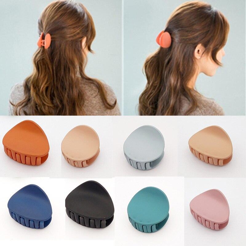 Sale 1PC Korean new acrylic irregular clip hairpin For Women headdress cross clip hair appliances