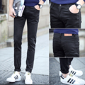 Four seasons of paragraph male jeans k05 806p18 black skinny pants