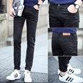 Quatro estações do parágrafo masculino jeans k05 806p18 preto calças skinny