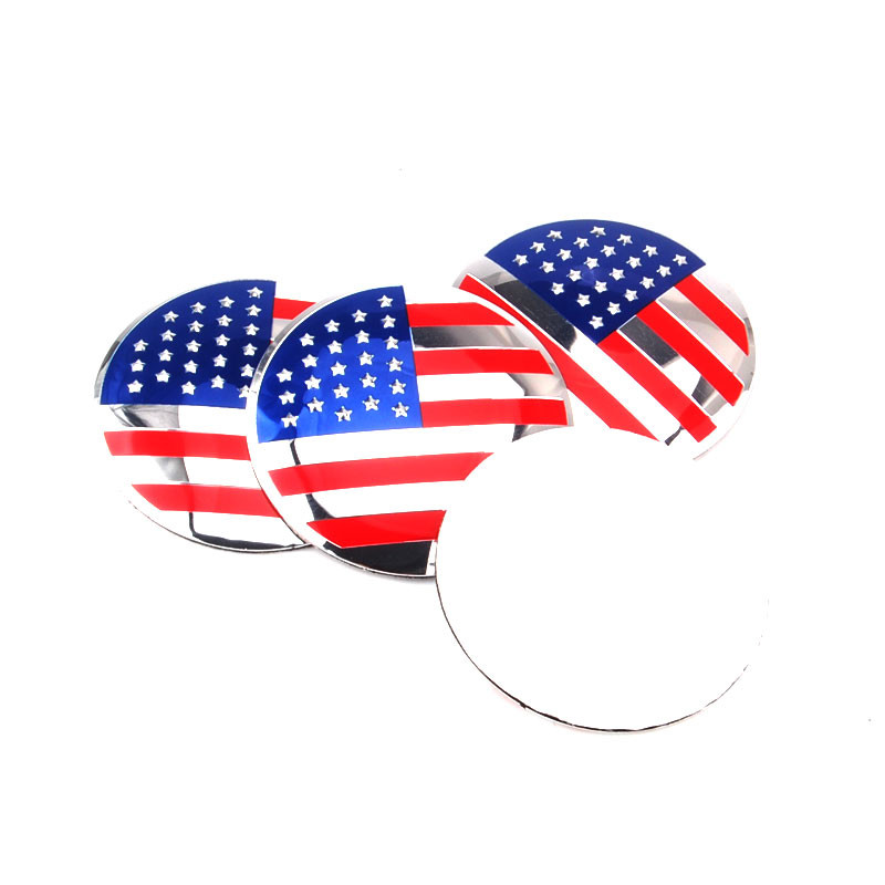 4X 56.5mm American United States USA Flag Car Wheel Center Hub Cap Emblem Sticker Fit For Explorer C-Max Edge Escape ect