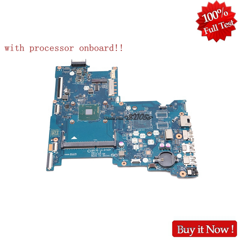 NOKOTION BDL50 LA-D702P Main board For HP 250 G5 854944-601 854944-001 Laptop Motherboard With CPU onboard haoshideng 854944 601 854944 001 mainboard for hp 250 g5 laptop motherboard bdl50 la d702p 854944 001 all functions fully tested